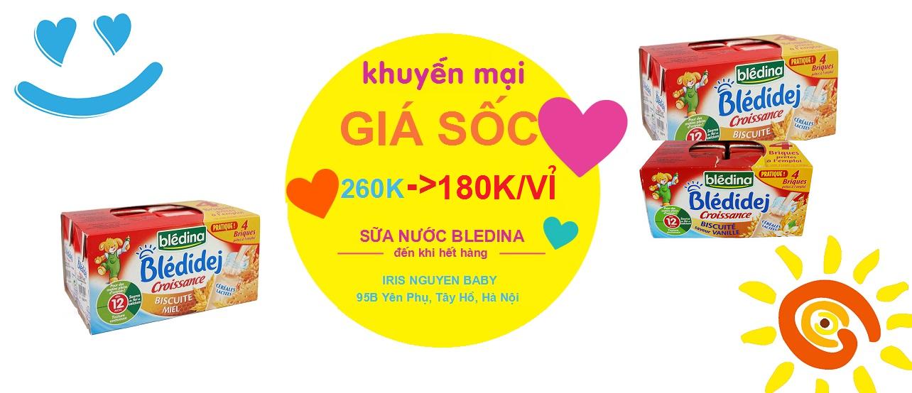 Khuyến mại giá sốc - Sữa nước Bledina giá chỉ còn 180K/lốc