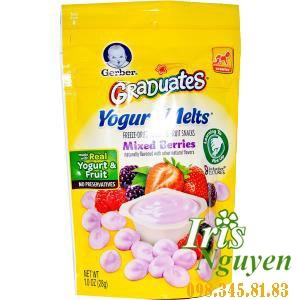 Sữa chua khô Gerber Mixed Berries