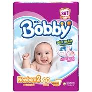 Bỉm lót Bobby Newborn 2 (60 miếng) ( > 1 tháng )
