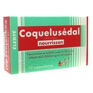 Thuốc nhét đít trị ho long đờm - Coquelusedal (dưới 30 Tháng)