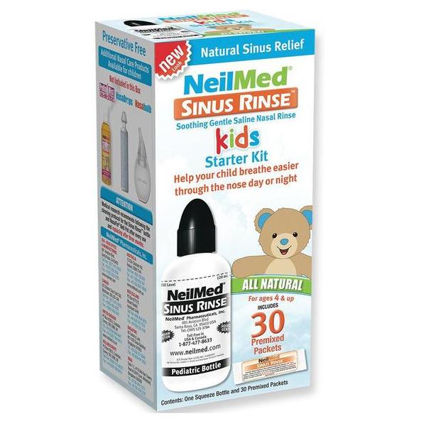 Bình rửa mũi NeilMed trẻ em (4Y+) (30 gói muối) (120ml)