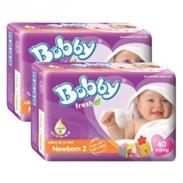 Bỉm Bobby Newborn 2 miếng lót (40 miếng) (>1 tháng )