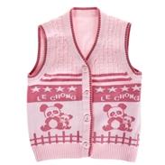 Áo len gile cho bé gái (9-12m)