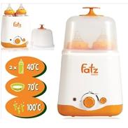 Máy hâm sữa và tiệt trùng 2 trong 1 Fatzbaby FB3011SL (2 bình cổ rộng)