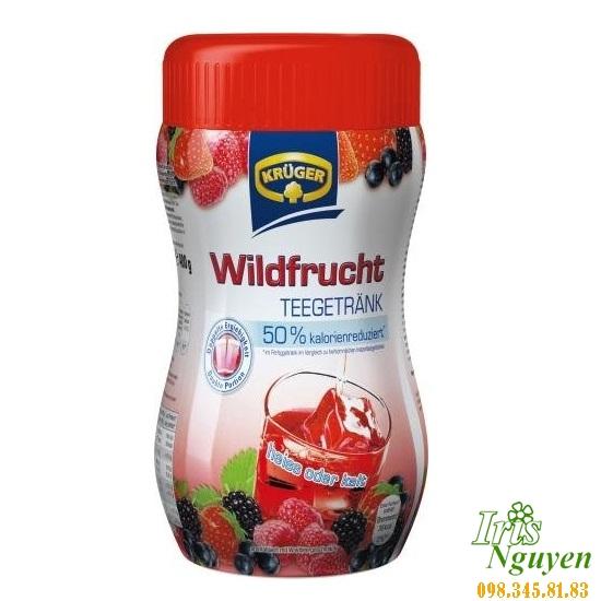 Trà Kruger Wildfrucht vị dâu, việt quất 400g