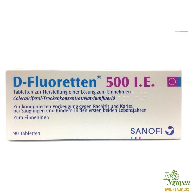Vitamin D Fluoretten dạng viên 500 I.E