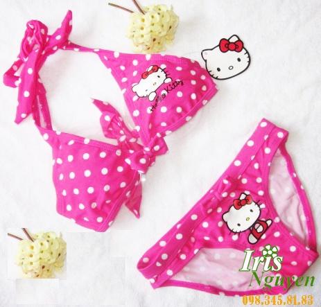 Bikini bé gái Hello kitty