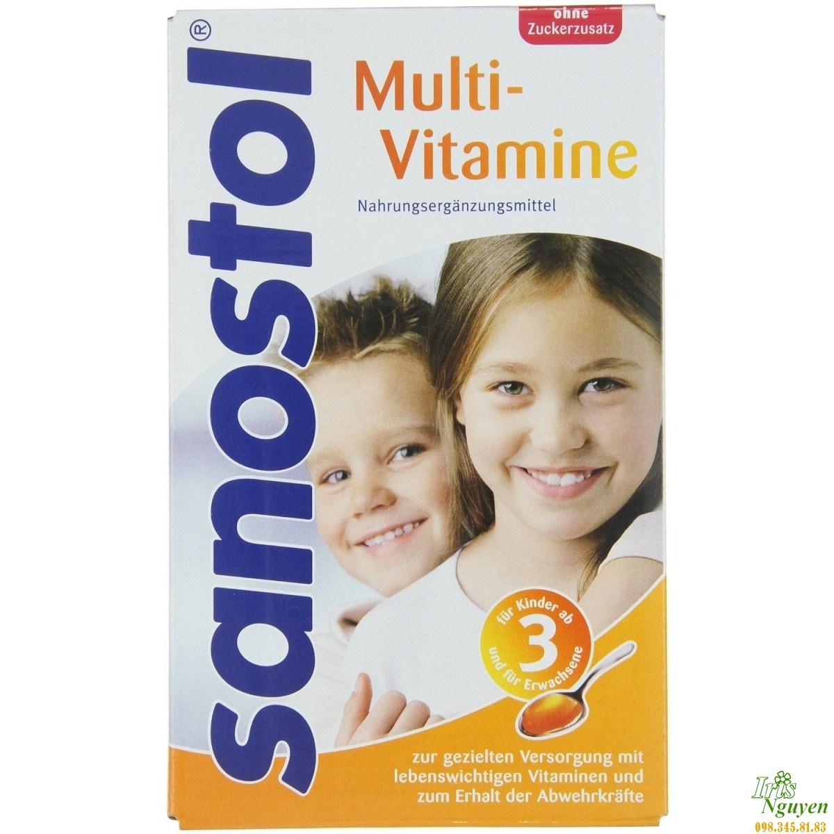 Vitamin tổng hợp Sanostol số 6 dạng siro