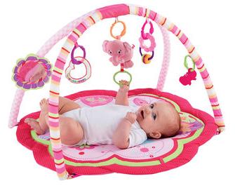 Thảm nằm chơi Pink Happy Play Mat màu hồng