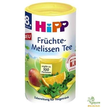 Trà cốm hòa tan HiPP hoa quả, bạc hà 200g