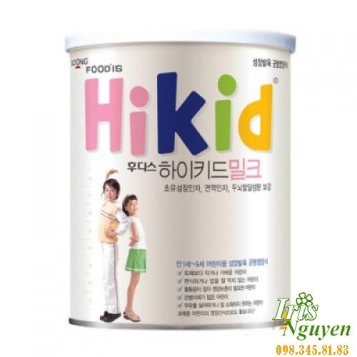 Sữa Hikid (tăng cân & chiều cao) (600g) (vani) (1-9 tuổi)