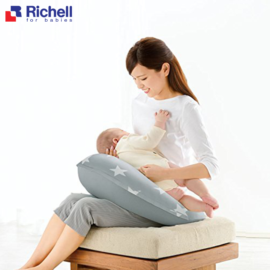 Gối cho con bú đa năng Richell (ghi)RC20952