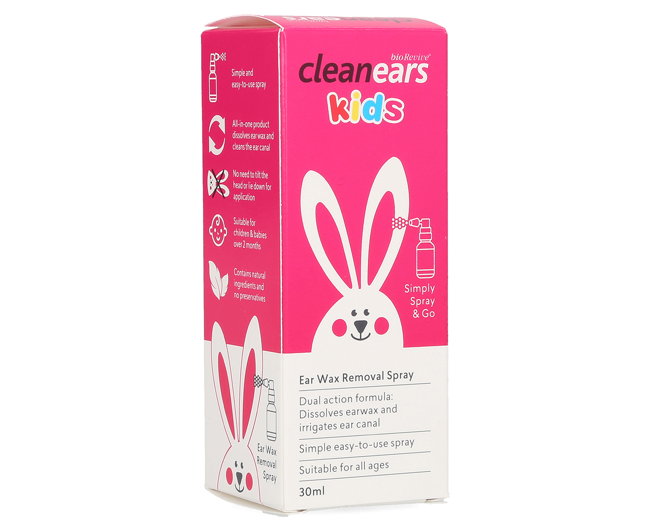 Xịt Tan Ráy Tai Clean Ears Kids 30ml - Úc