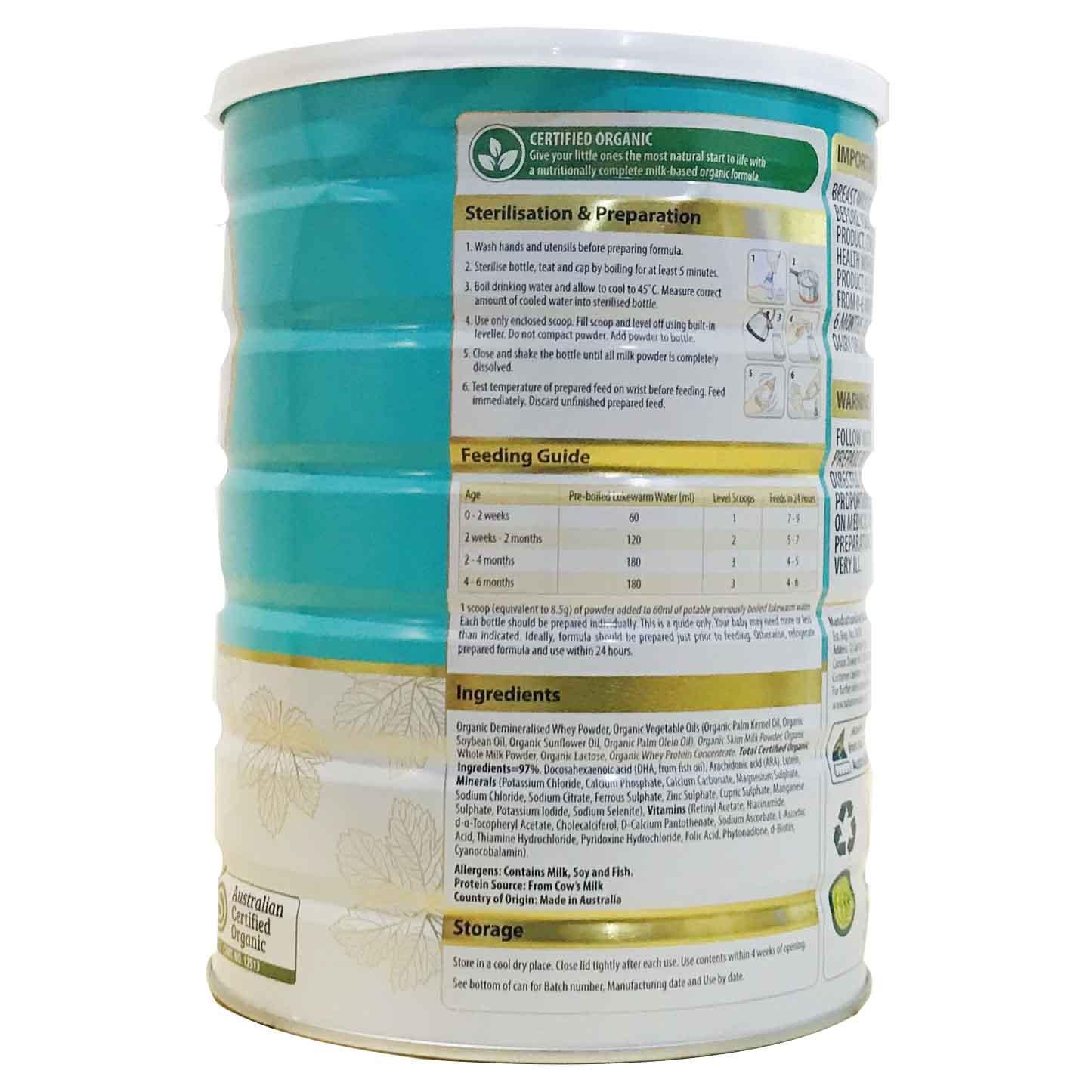 Sữa Nature One Organic số 1 900g (0-6 tháng)