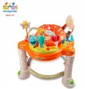 Ghế nhún cao cấp kiêm tập đi cho bé Konig-Kids  có nhạc và bàn chơi