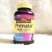 Vitamin bà bầu Nature Made Prenatal Multi + DHA 150v