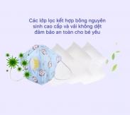 Khẩu trang lọc khuẩn XTG (2-8 tuổi) (20pcs)(Bé Trai)