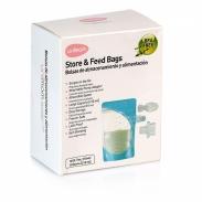 Túi trữ sữa mẹ và thức ăntrực tiếp Unimom(10 túi)