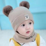 Sét mũ và khăn quàng cổ hình gấu