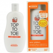 Sữa tắm gội Wesser Toptotoe (200ml)