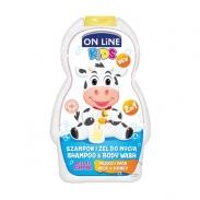 Sữa tắm gội 2in1 Onlinekids hương sữa, mật ong (250ml)