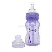 Bộ 2 bình sữa Dr Brown's nhựa cổ rộng tím (240ml)