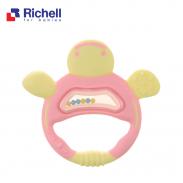 Xúc xắc gặm nướu rùa hồng Richell RC42328