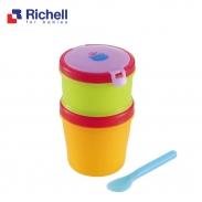 Hộp đồ ăn 2 tầng kèm thìa Richell RC41940