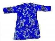 Áo dài cách tân màu xanh cho bé