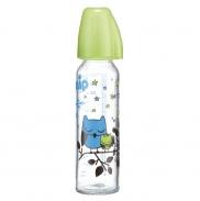 Bình sữa thủy tinh cổ hẹp 250ml NIP-35071(silicone)