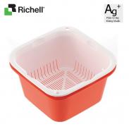 Bộ rổ chậu sâu nhựa kháng khuẩn Muchu LL Richell