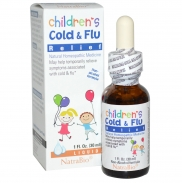 Siro trị cảm cúm Cold & Flu NatraBio (30ml) (1Y+)