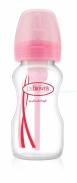 Bình sữa Dr Brown's nhựa cổ thường options hồng (270ml)