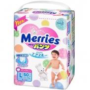 Bỉm Merries quần L50 (hàng nội địa Nhật)