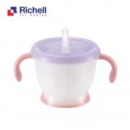 Cốc tập uống 3 giai đoạn Richell (hồng) RC41012