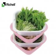 Bộ rổ chậu nhựa kháng khuẩn M (2bộ) Richell