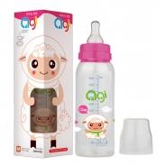 Bình sữa Agi Premium cổ thường hồng (250ml) (4m-6m+)