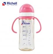 Bình ống hút PPSU Richell 320ml (hồng) RC99130