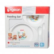 Bộ bát tập ăn mini Pigeon (6m+)