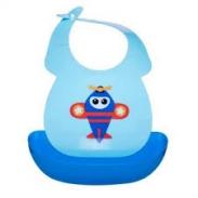 Yếm Upass nhựa có máng xanh dương (6m+)