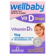 Vitamin D3 Wellbaby vit D Drops Dạng Nhỏ Giọt (0m-4y)