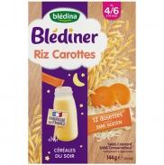 Bột lắc sữa Bledina vị gạo, cà rốt (144g) (4m-6m)