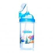 Bình nước nắp bật ống hút mềm Upass(420ml-12m+)