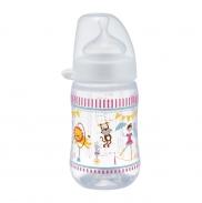 Bình sữa NIP nhựa cổ rộng hồng(260ml)(0m+)
