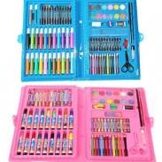 Bộ bút màu 86 chi tiết màu xanh và hồng