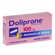 Thuốc hạ sốt doliprane (3kg-8kg) dạng đút hậu môn 100mg