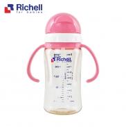 Bình ống hút PPSU Richell 260ml(hồng) RC99127