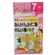 Bột ăn dặm Wakodo vị gà,cá rau củ cho bé (7m+) của Nhật