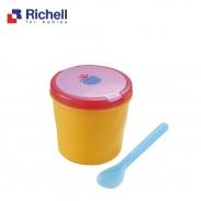 Hộp đồ ăn kèm thìa Richell RC45400