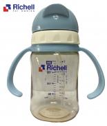 Bình ống hút PPSU Richell 200ml (xanh) RC99125